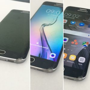 Rozbita szybka Samsungu Galaxy S^ edge oznacza wymianę wyświetlacza   Serwis telefonów Kraków to PrestigeGSM